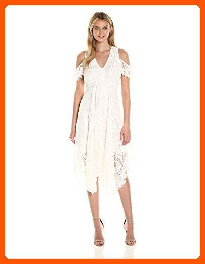 Taylor Dresses Womens Cold Shoulder Alternative Hem Lace