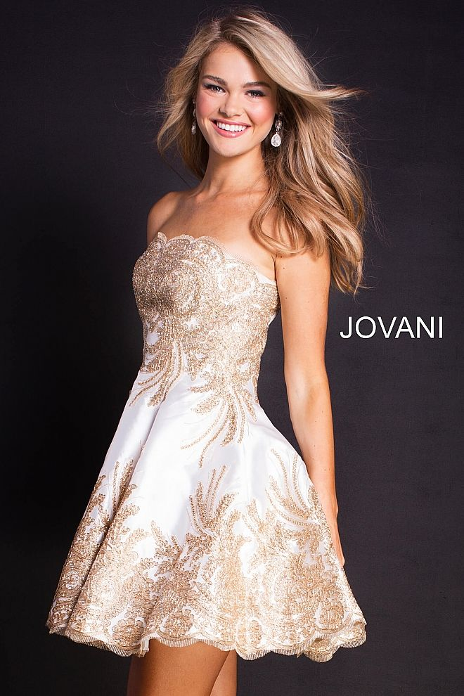 17+ White and gold short dress ideas