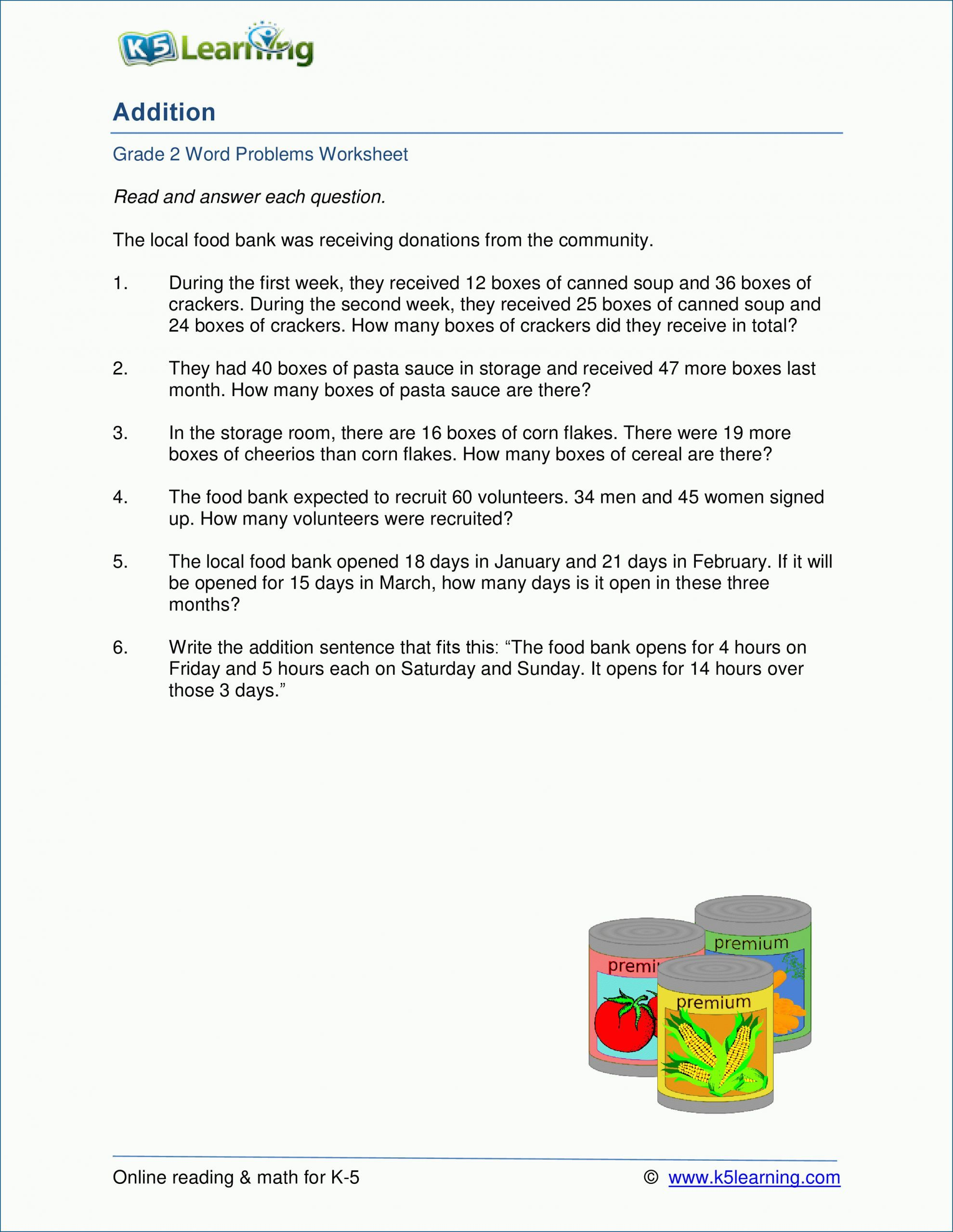 4 Free Math Worksheets Second Grade 2 Subtraction Subtract