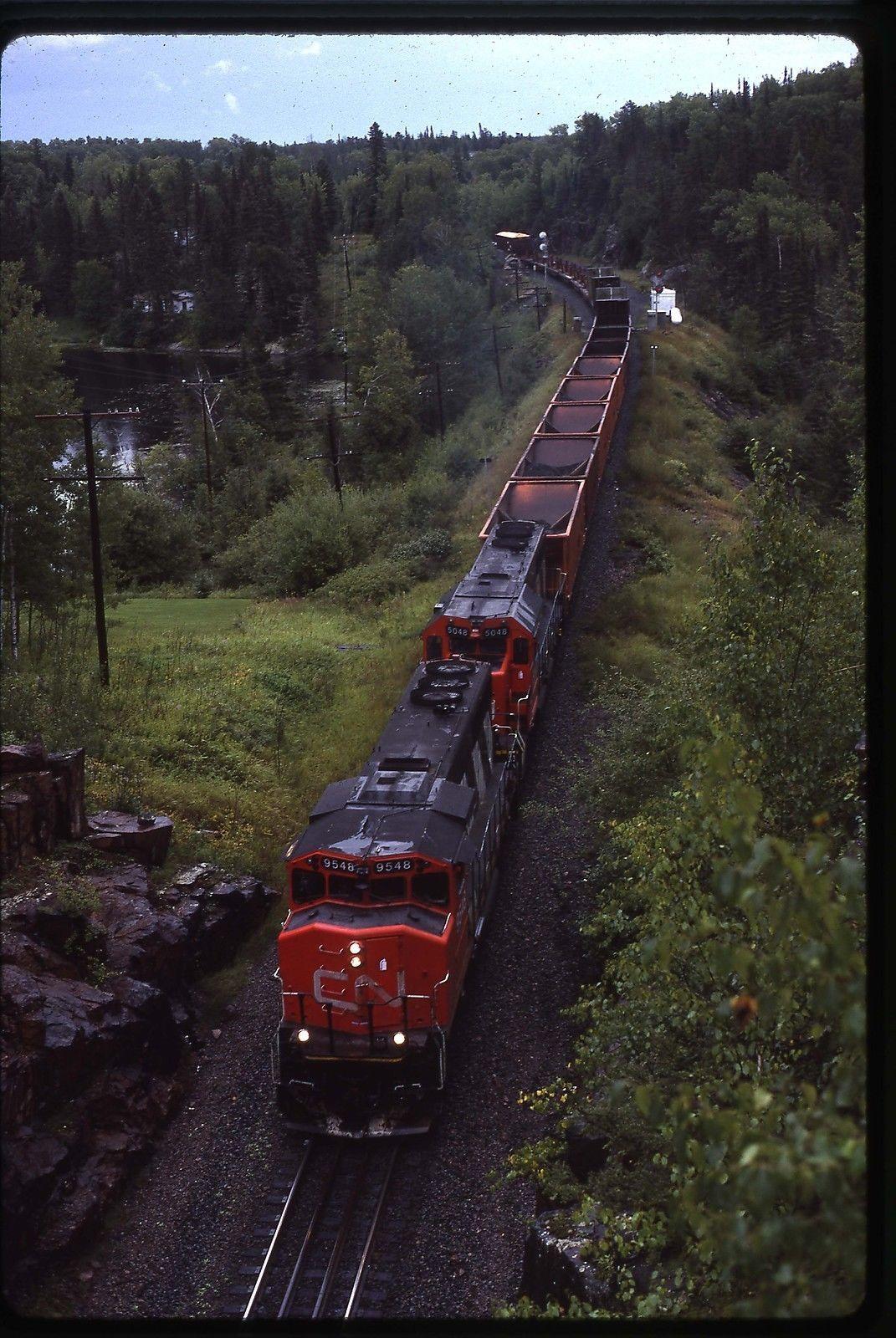 95485048 train 303 at Ena Lake, ON on 8/29/92 Train