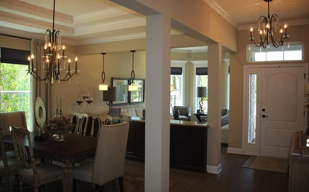 The Emerald Model's Spacious Foyer And Formal Diningliving Room Alluring Dining Room Furniture Jacksonville Fl Inspiration Design
