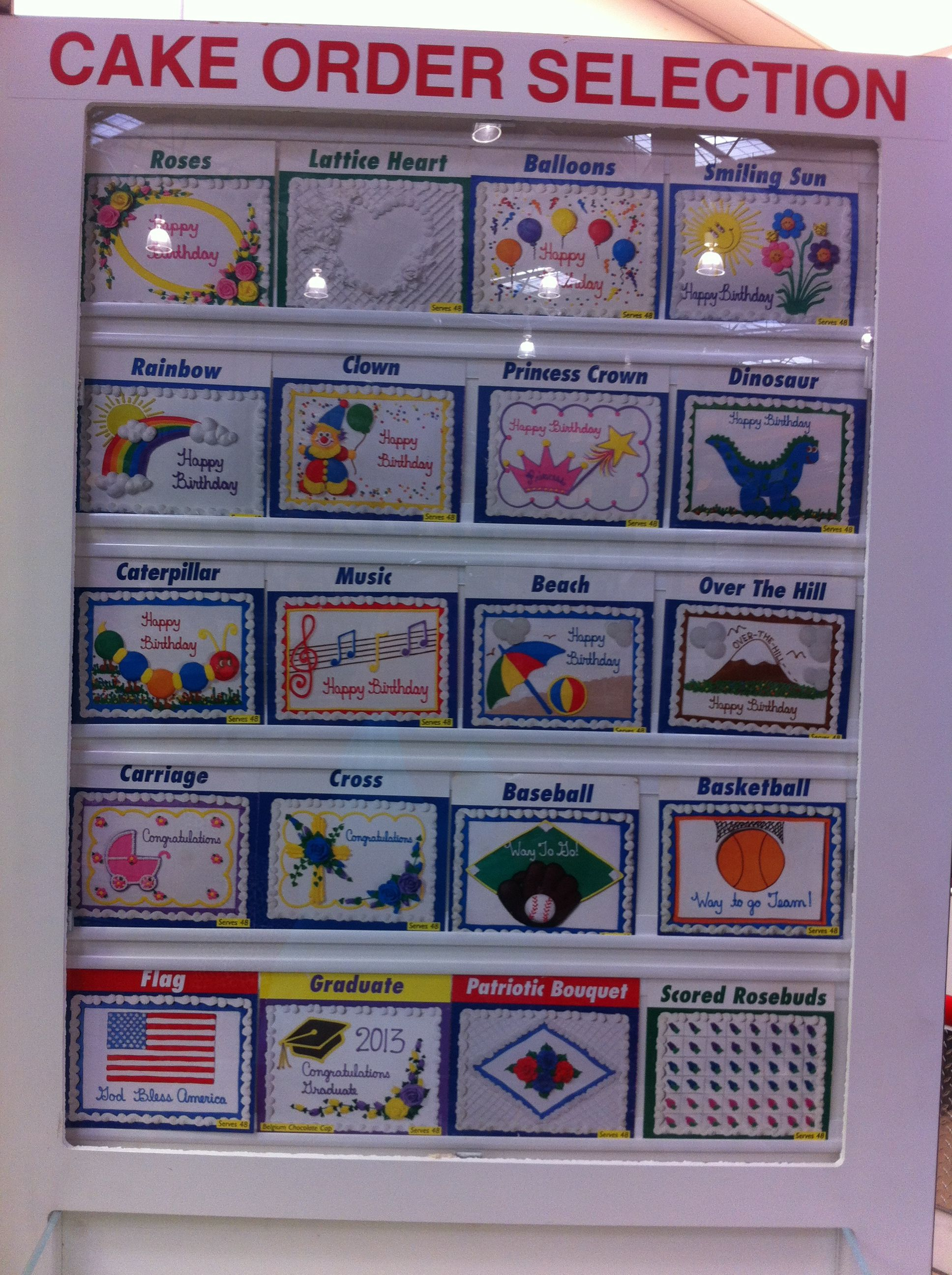 Costco Cake Selections. all designs come in white and chocolate. There are other sports available as w… | Costco cake. Cake designs birthday ...