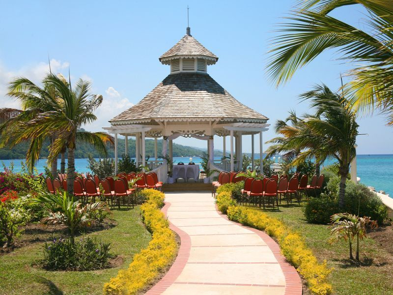 Sunset Jamaica Grande Wedding Gazebo Jamaica | Weddings | Pinterest | Jamaica Grande Wedding ...