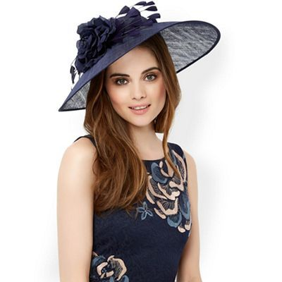 64aa72fd8 Monsoon Blue 'Cleo' feather flower fascinator-   Debenhams   Royal ...