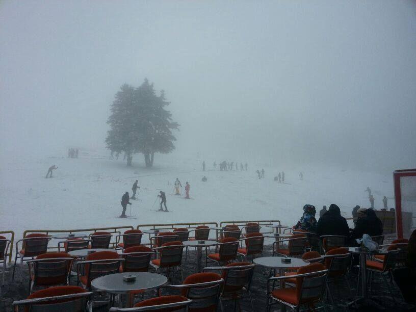 Ski lovers started to practice in Kervansaray Uludag Ski Center....