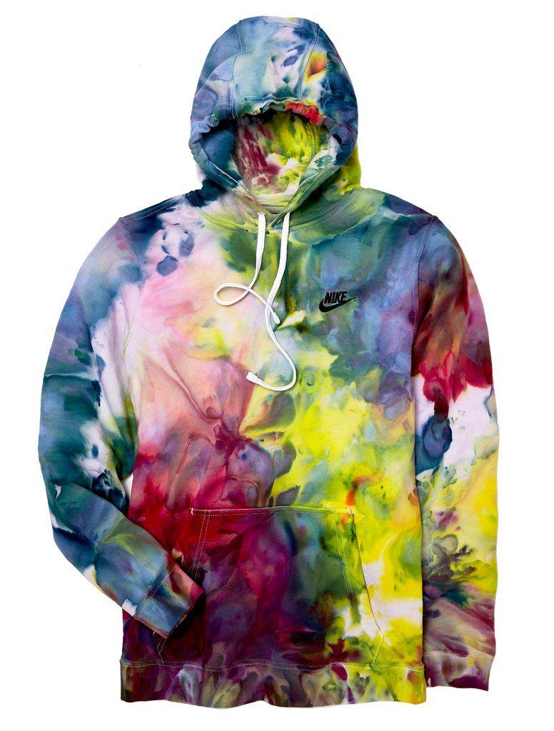Nike Hoodie In Sublime Tie Dye Diy Tie Dye Fashion Bleach Tie Dye [ 1024 x 776 Pixel ]