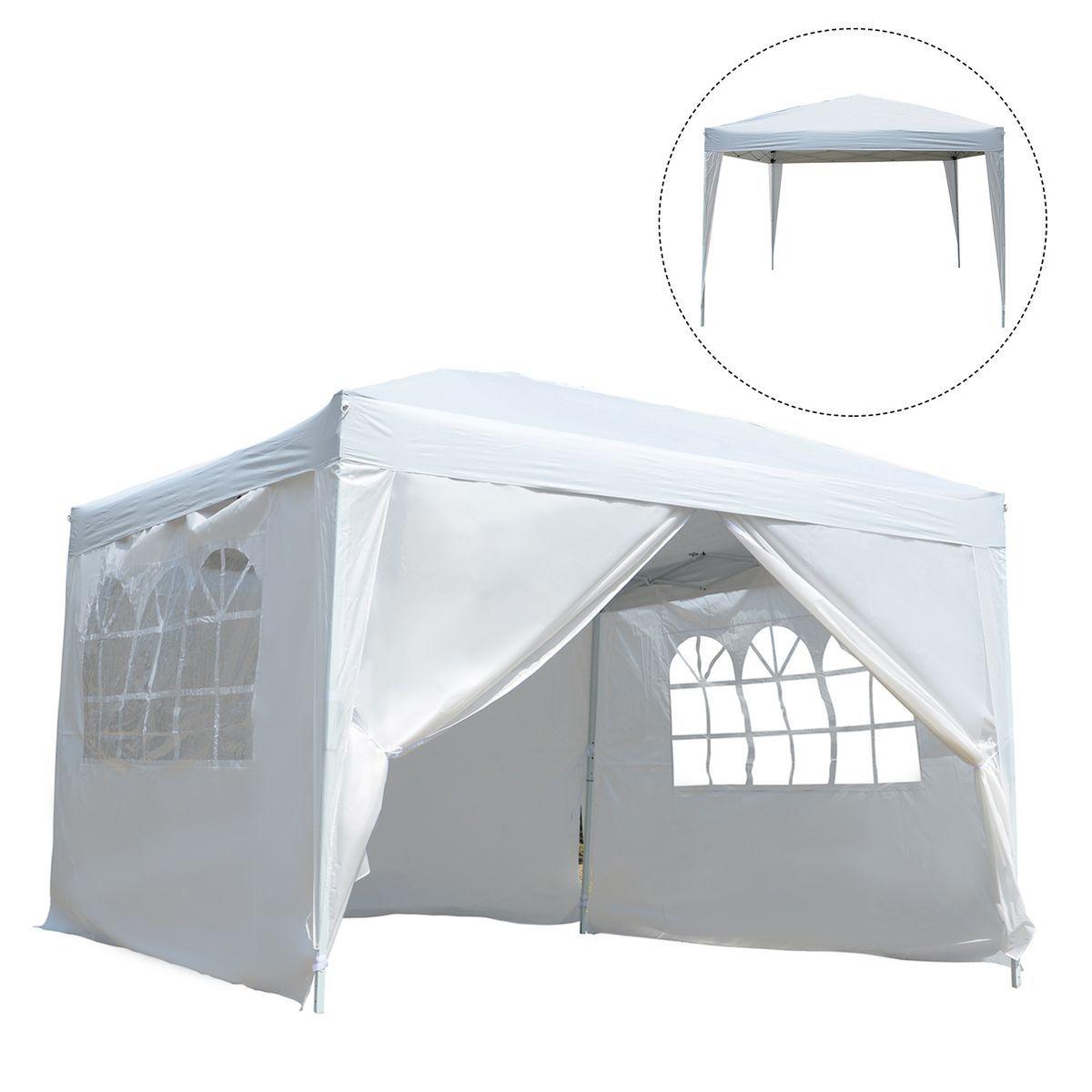 Tonnelle Barnum 3x3x2 55 M Blanc Taille Taille Unique Tente Reception Auvent Et Sac De Transport