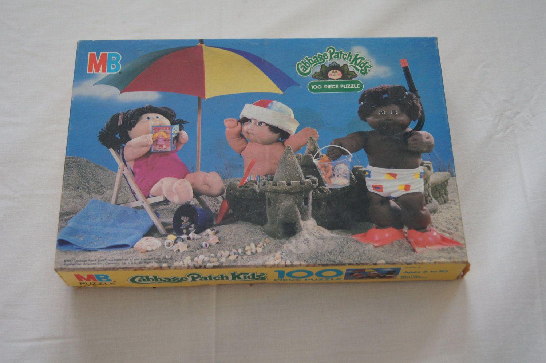 Vintage 1984 Cabbage Patch Kids 100 Piece Puzzle Complete Milton Bradley Beach Cabbage Patch Kids 100 Piece Puzzles Bradley Beach