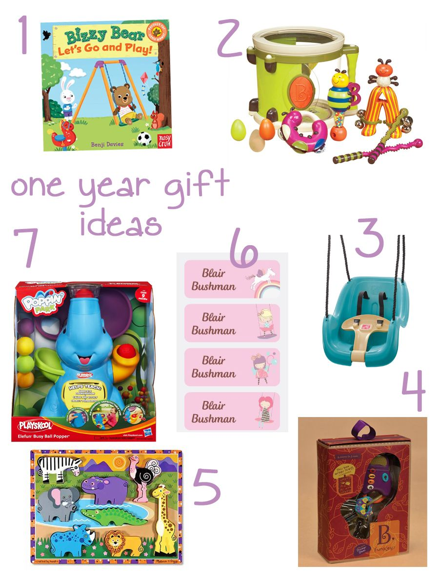 great gift ideas for one year olds Baby first birthday