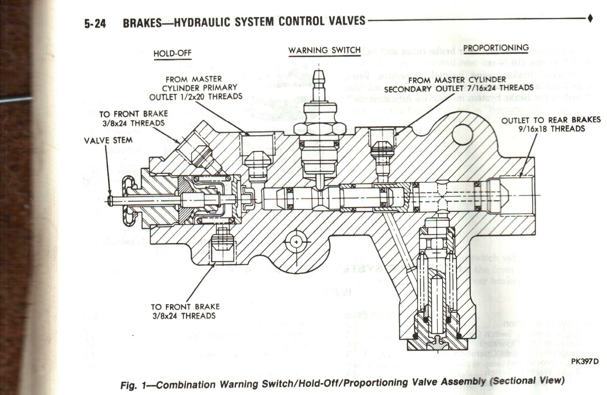 Diagrams Of Brake Proportioning Valve Valve Diagram Hydraulic Systems