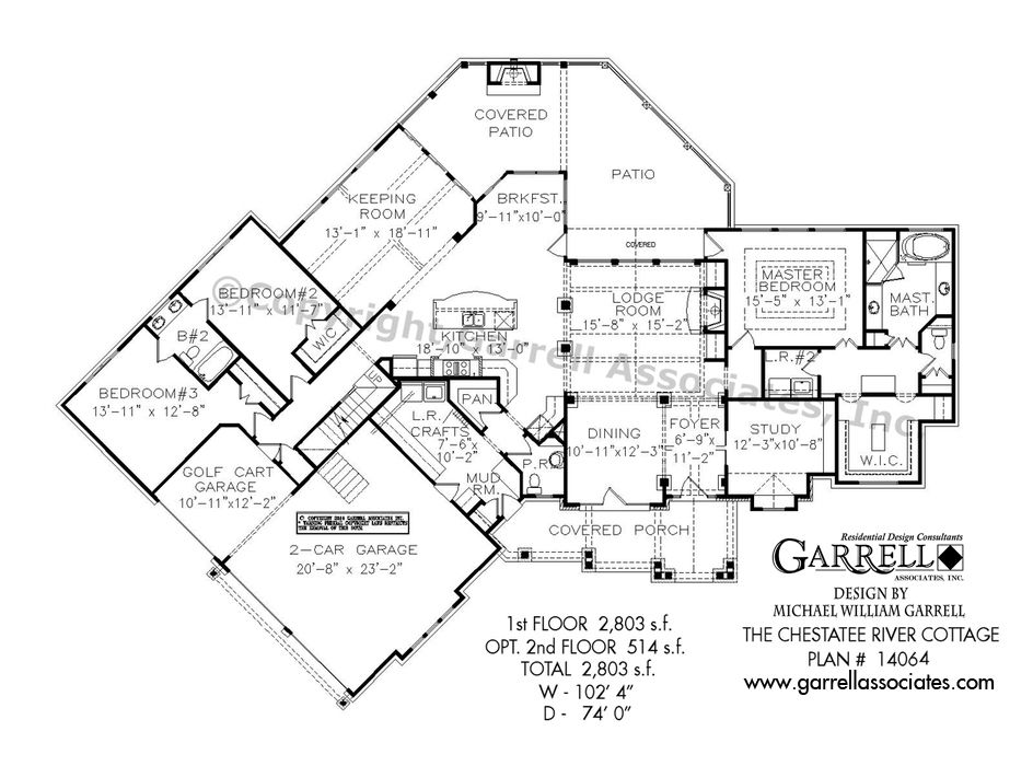 chestatee river cottage house plan 14064, 1st floor plan, mountain Mountain Craftsman House Plans chestatee river cottage house plan 14064, 1st floor plan, mountain style house plans, mountain craftsman house plans