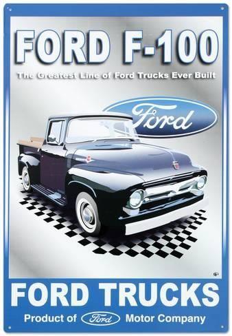 Ford Motor Company F 100 Pickups Trucks Tin Sign Allposters Com Pickup Trucks Ford Motor Company Ford Trucks