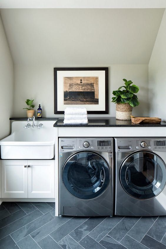 Smart Design Ideas To Steal For Small Laundry Rooms Laundry Room Sink Laundry Room Decor Small Laundry Rooms