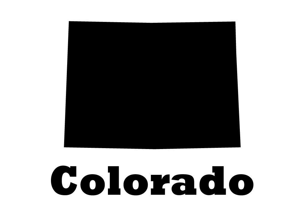 Colorado State Vinyl Wall Decal Map Silhouette Sticker Decoration