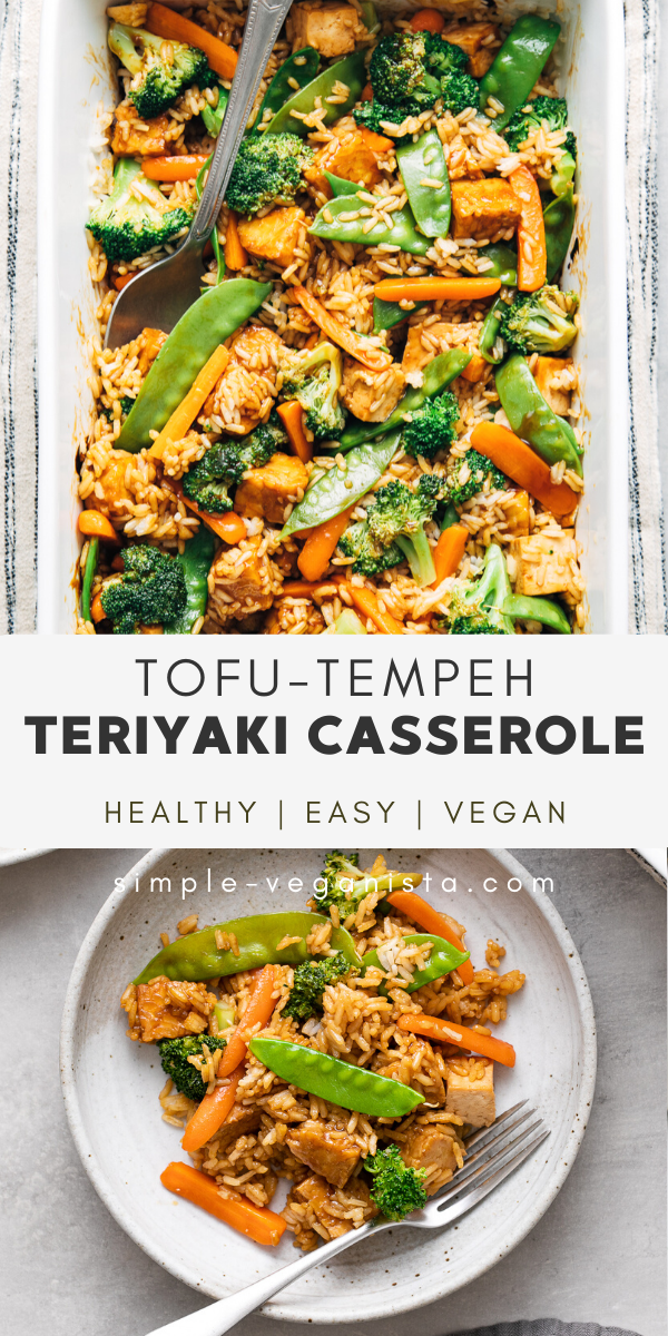 Teriyaki Tofu Tempeh Casserole Vegan Healthy Recipe In 2020 Tempeh Recipes Vegan Vegan Recipes Healthy Vegan Dinner Recipes