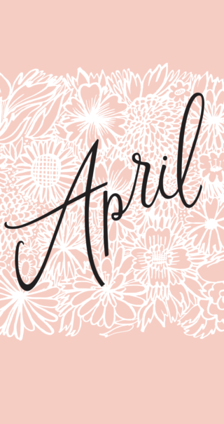 Illustrated April Wallpaper By The Good Twin For Oh So Beautiful
