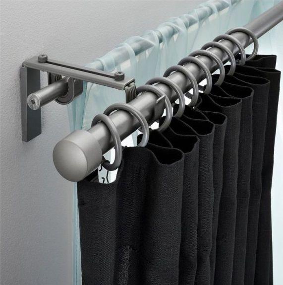 tringle rideau double rideaux