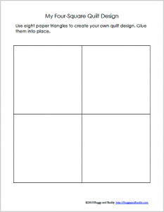 Geometry for Kids: Quilt Activity Using Triangles (Free Printable ... : quilt templates printable - Adamdwight.com