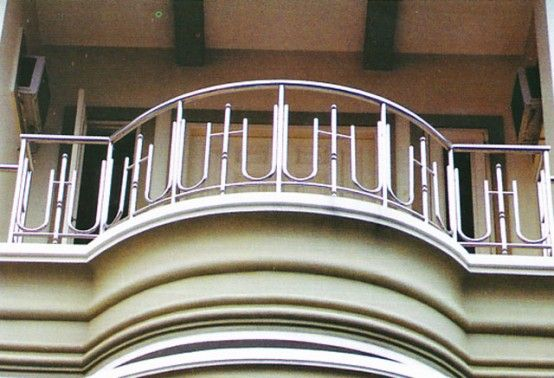 Stainless steel balcony railing designs home for Terrace railing design