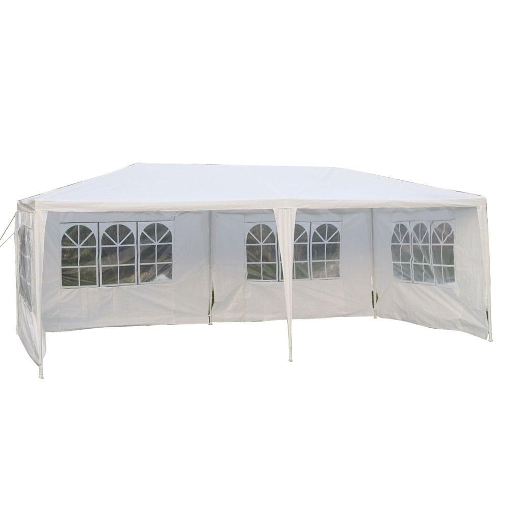 0 8 Ft X 3 7 Ft White Waterproof Foldable Tent 4 Sides Storage Shed 13026449 Gazebo Canopy Outdoor Gazebo Canopy
