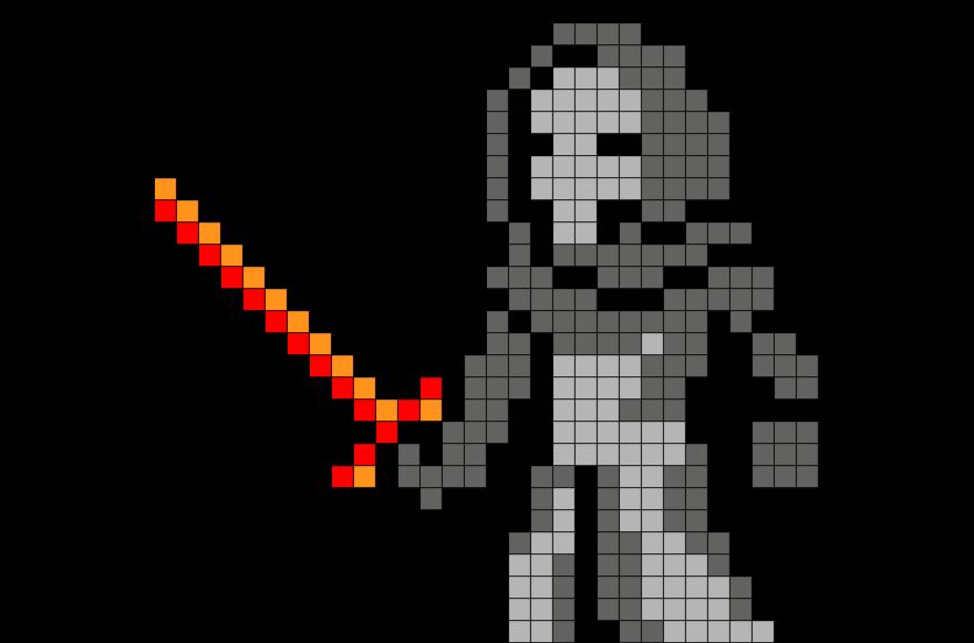 Star Wars Kylo Ren Pixel Art Pixel Art Star Wars Kylo Ren