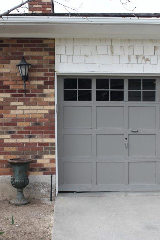 Garage Door Makeover Adding Trim To Windows 4men1lady Garage Doors Garage Door Update Diy Garage Door