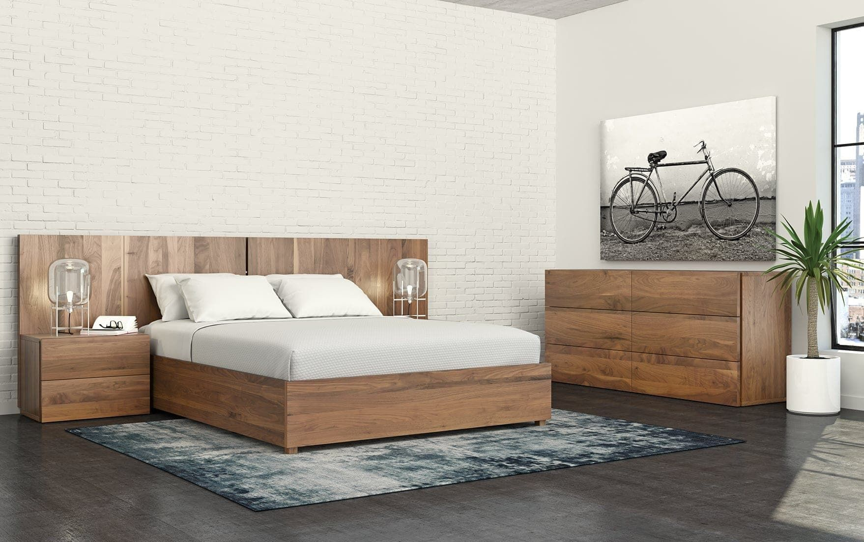 Canadian made contemporary Bedroom with lift up storage