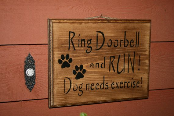 Funny Dog Sign Wooden Front Door Sign Shelf By Naturesglow 1500