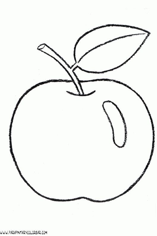 Pin By Ria On Art Apple Coloring Pages Coloring Pages Fruit Coloring Pages