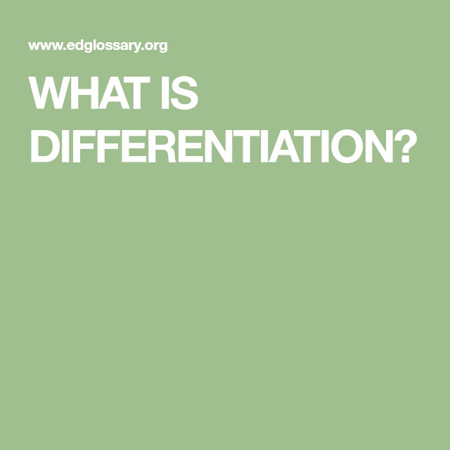 WHAT IS DIFFERENTIATION? | Teaching Crack | Differentiation