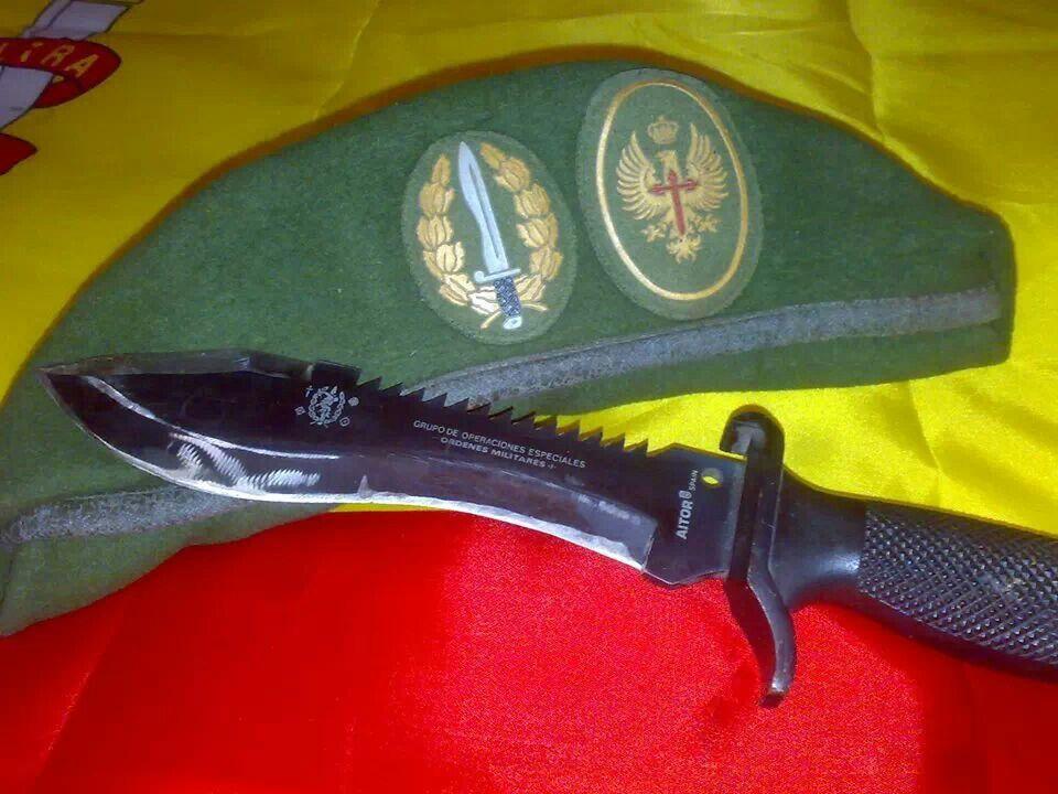 Parche boina legión fieltro verde emblema ejercito militar coser