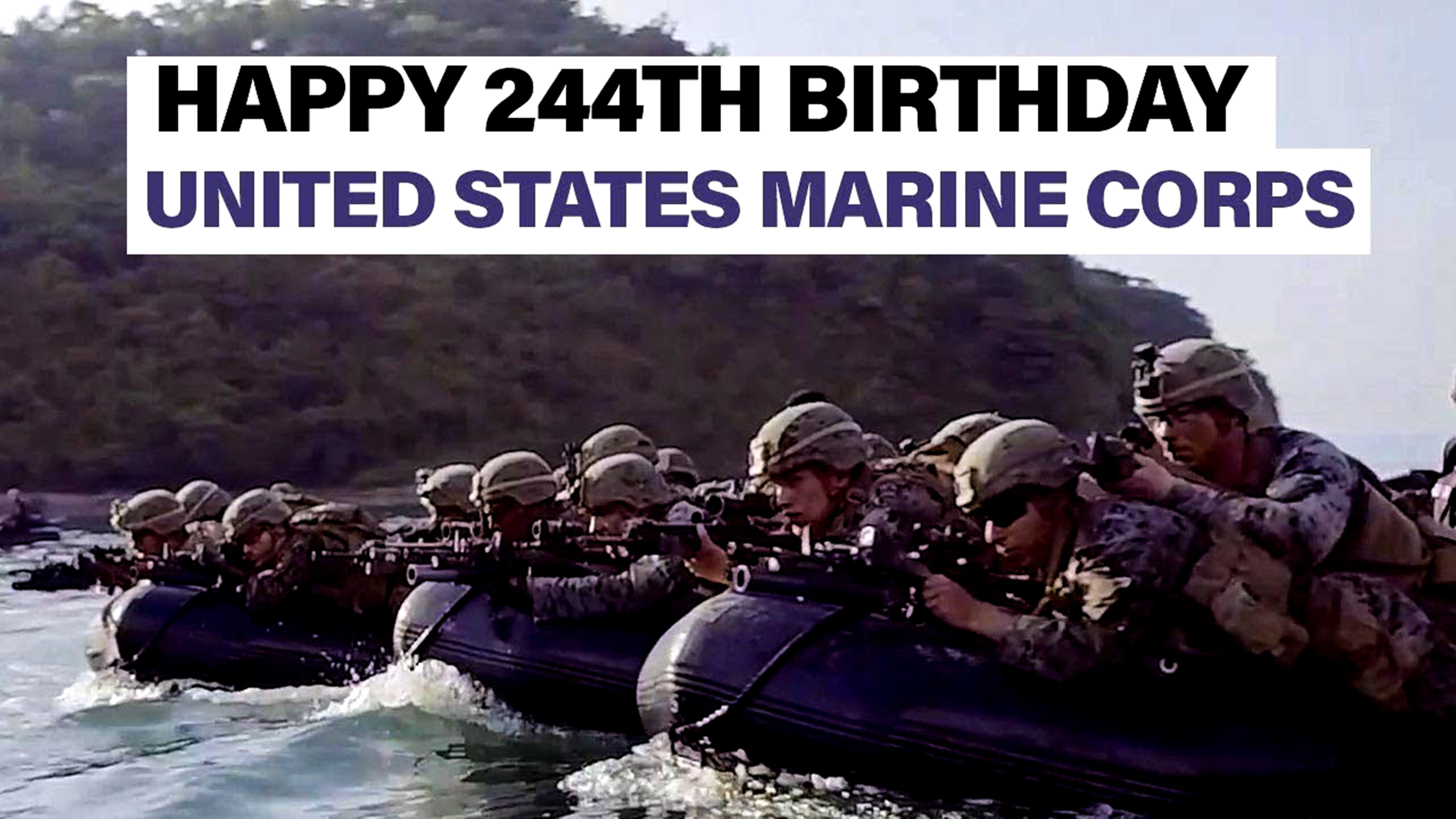 United States Marine Corps Celebrates 244th Birthday