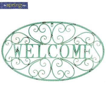Welcome Metal Wall Decor with Swirls | Wall decor, Metal ... on Hobby Lobby Outdoor Wall Decor Metal id=93964