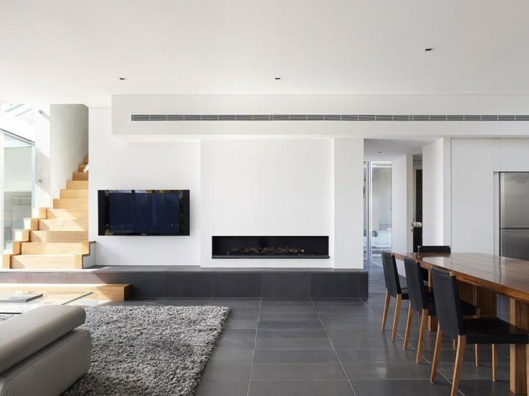 Minimalistische Innenausstattung 85 Zimmer in Schwarz und Weiß Haus - wohnzimmer dekorieren schwarz
