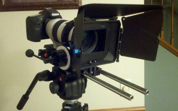 2 Canon EOS 7D's camera lot, lenes, Stills/Video, W/ Follow Focus/Shade/Rail Kit #Canon