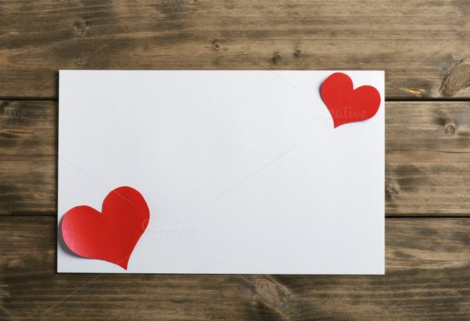 greeting card with a red heart by Mamuka Gotsiridze on @creativemarket