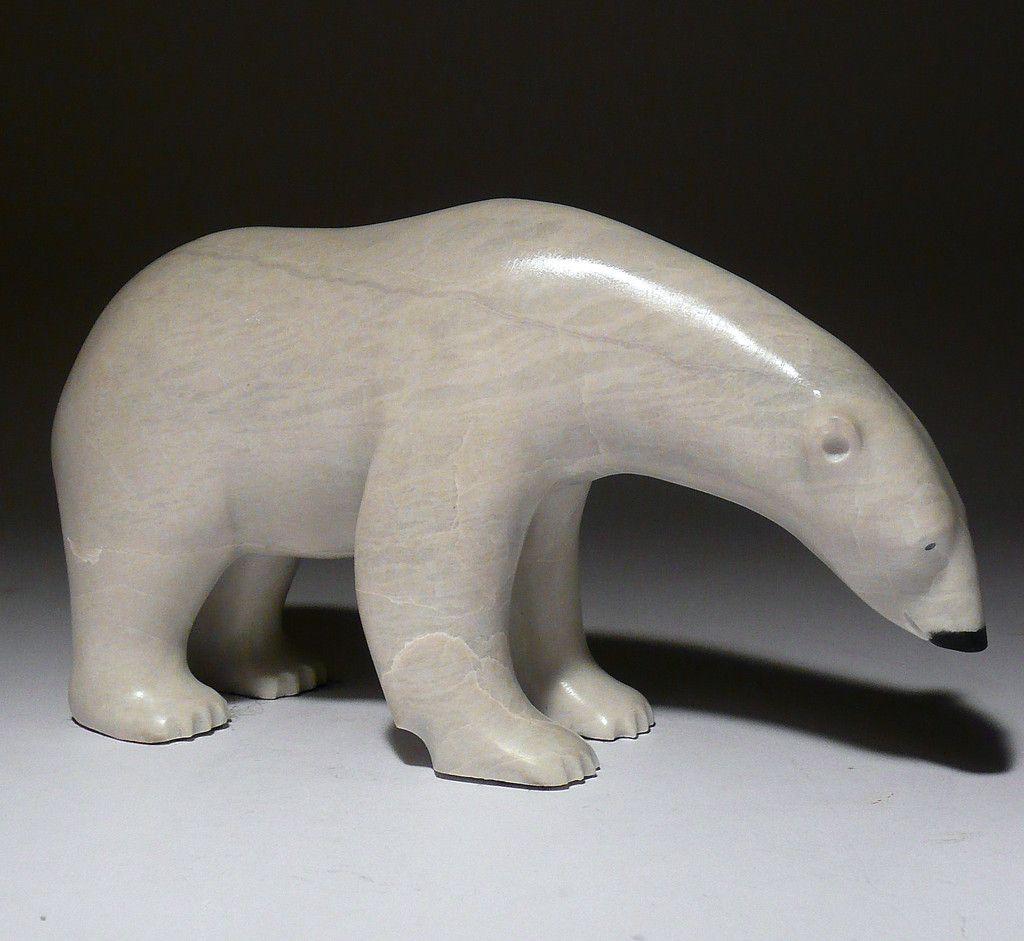 Simple soapstone bear carvings google search polar bears
