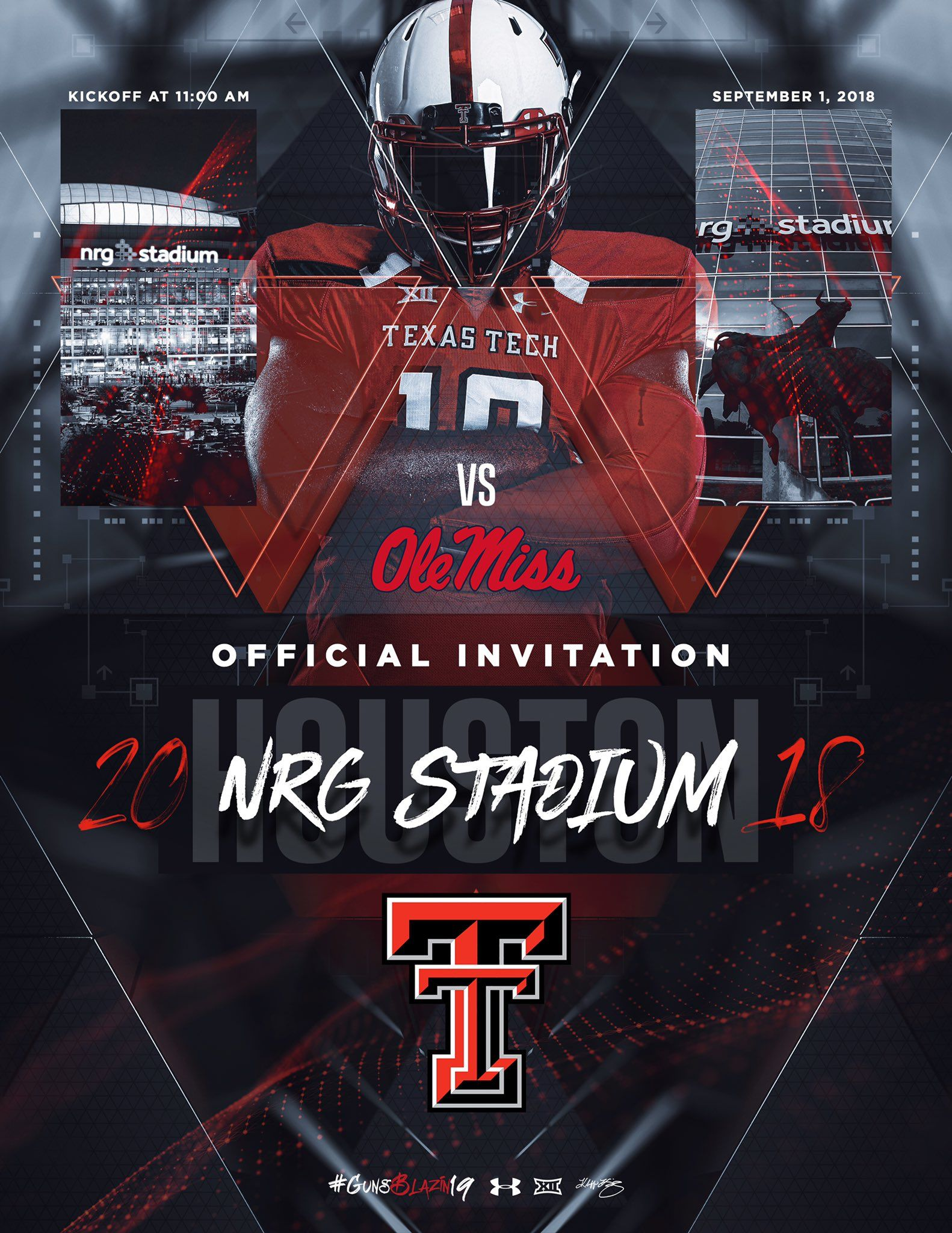 Pin by 이레 이 on sports graphic Nrg stadium, Texas tech