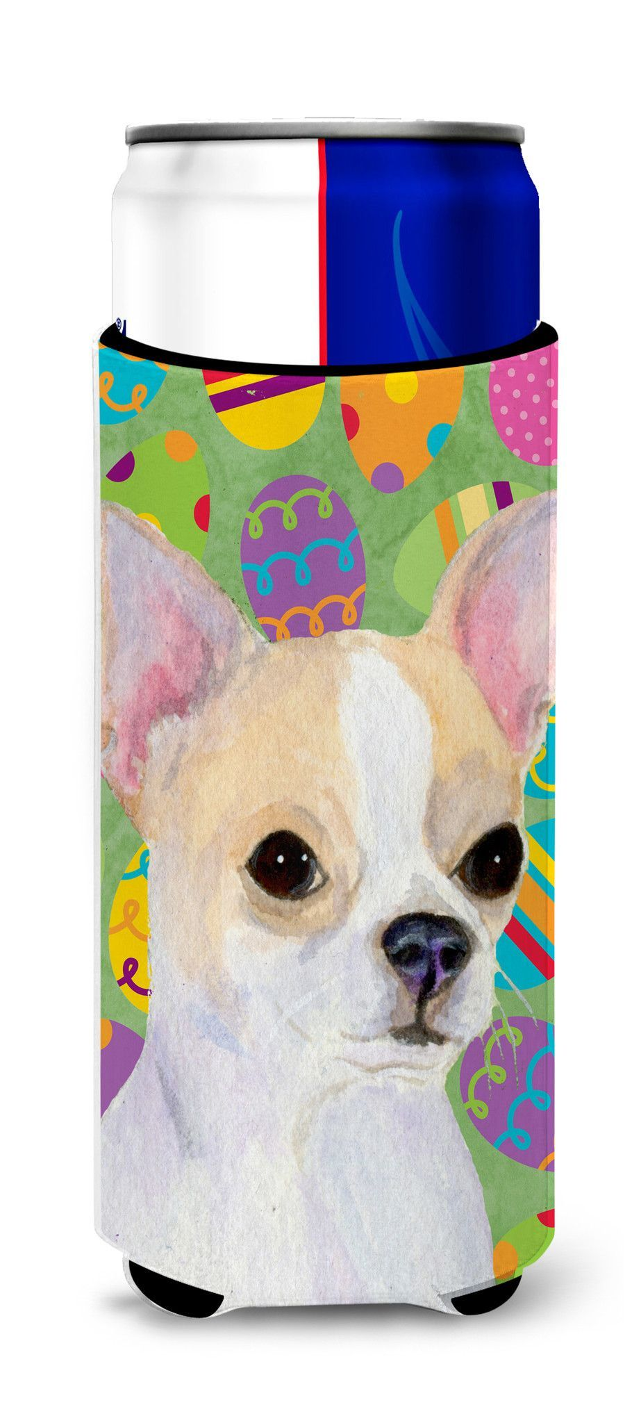 Chihuahua Easter Eggtravaganza Ultra Beverage Insulators for slim cans SS4819MUK