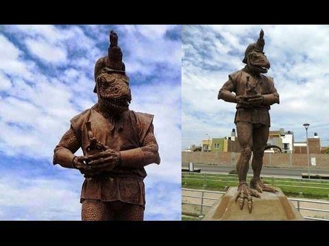UFO SIGHTINGS DAILY: Alien Statue of a Reptilian Humanoid Found in Peru, Feb 2017, Video, UFO Sighting News.