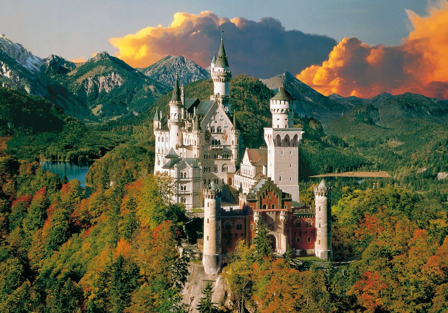 Neuschwanstein, the castle after which fairy tales are made!  What a Bavarian wonder.