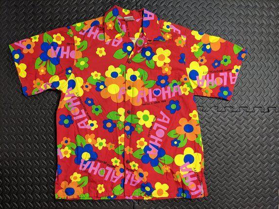 1b4f334f Vintage Hawaiian Men's Shirt. Sz LARGE , Aloha 1960's 70's Mod Hippie  Style. Rockabilly Atomic Tiki