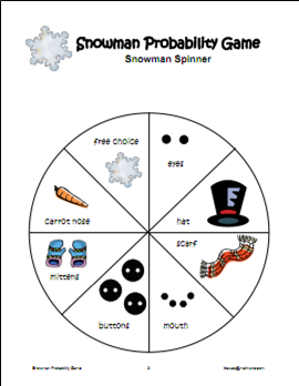 Snowman Probability This activity is designed as a fun, seasonal ...