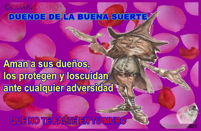 DUENDE DE LA SUERTE, NOS PROTEGEN Y NOS CUIDADAN. https://www.cuarzotarot.es/ #FelizViernes #VidaSana #Deseos #Suerte #Destino #Talismán #Amuleto