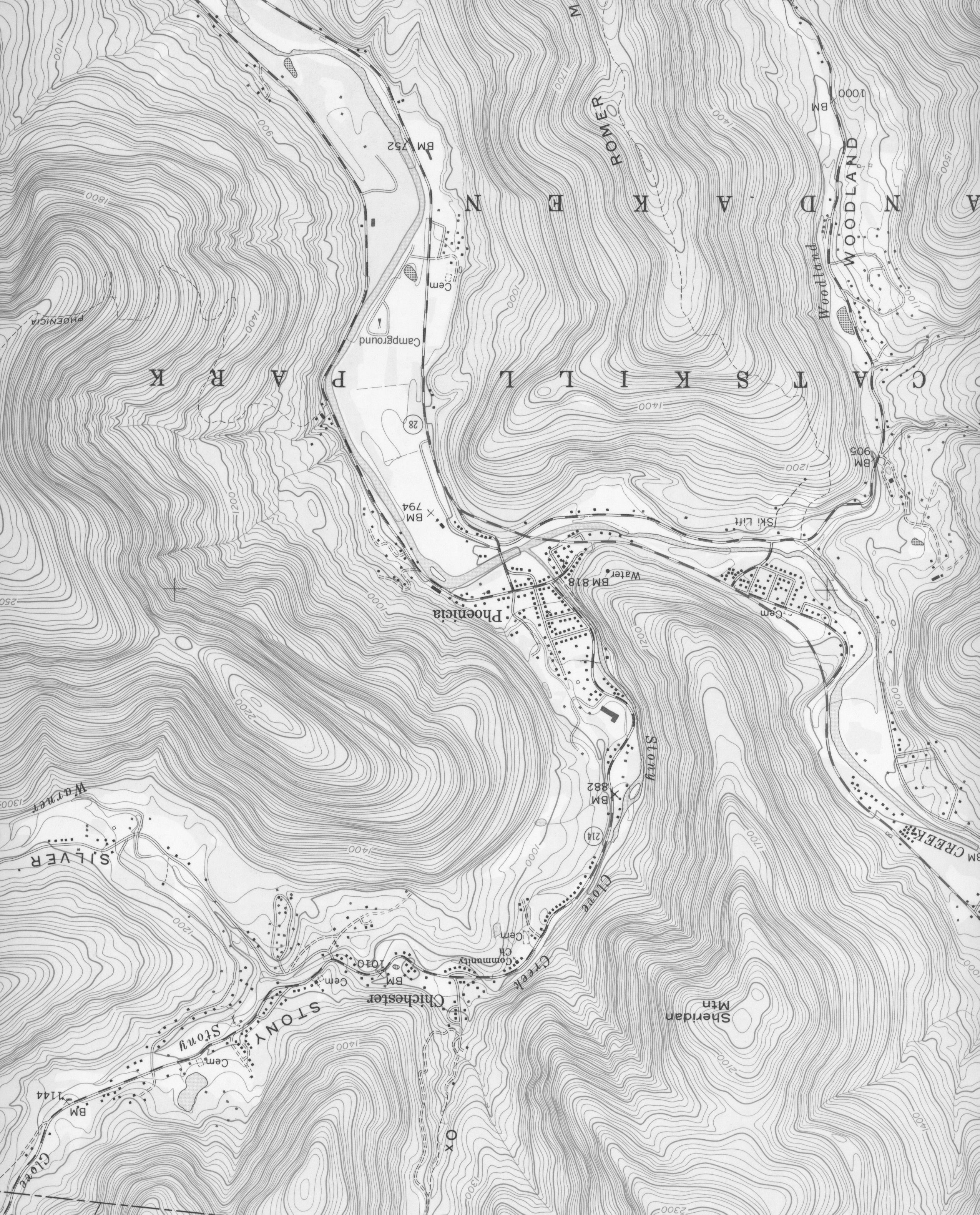 Here S An Example Of A Topographic Map A Section Of The 7
