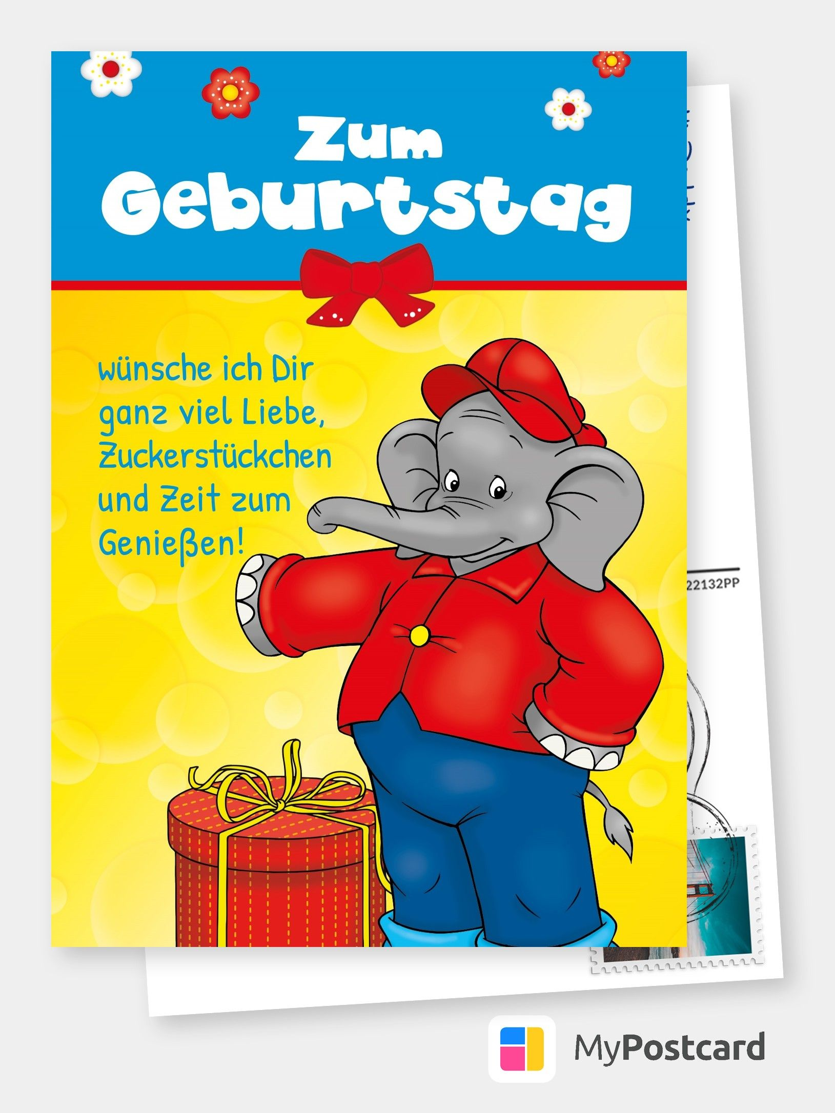 Benjamin Blumchen Geburtstagskarte Geburtstagswunsche Fur