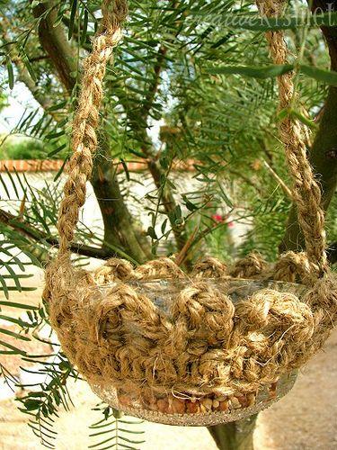 for the birds crocheted bird feeder ~free tutorial~