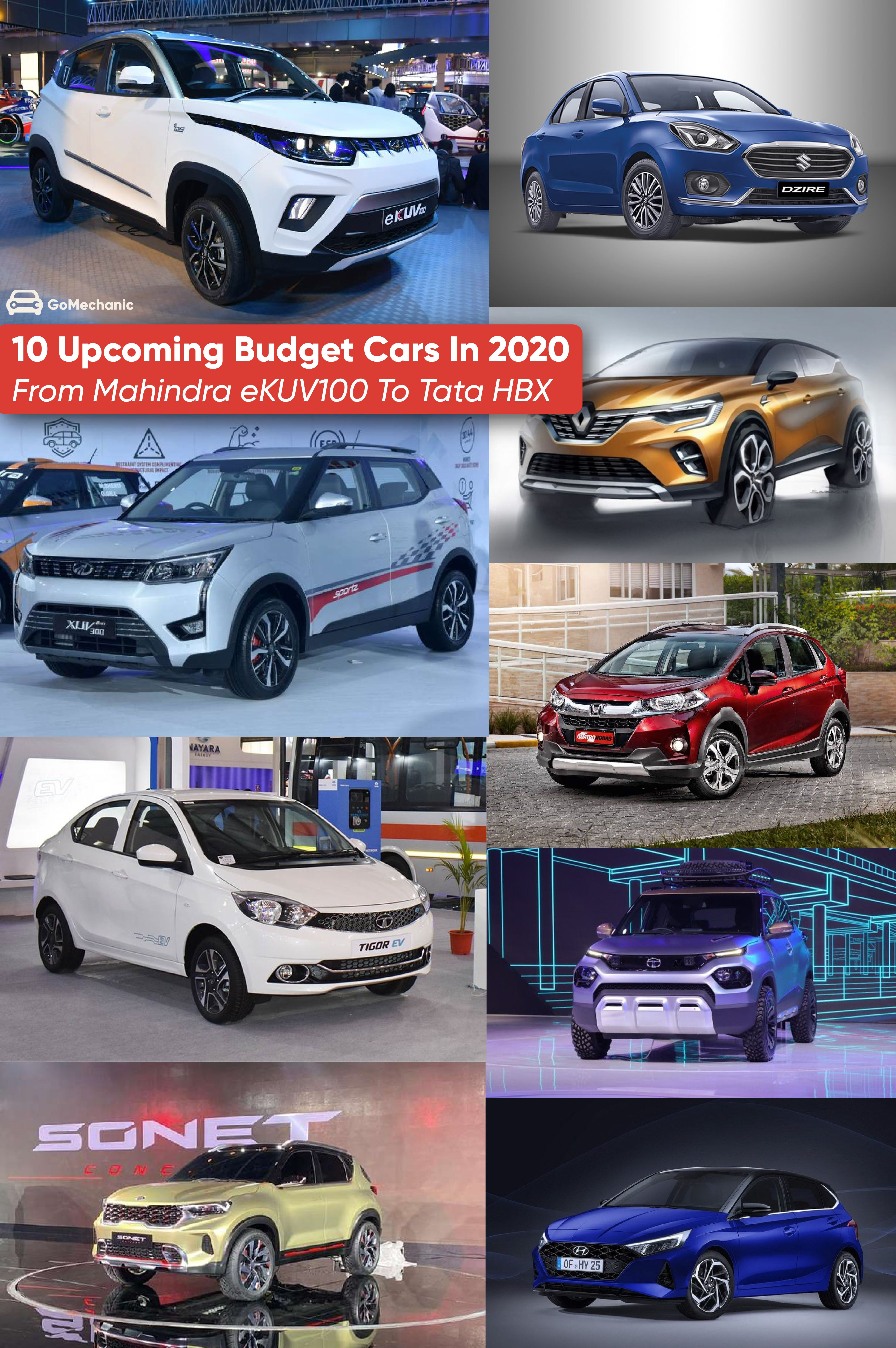 10 Upcoming Budget Cars In 2020 From Mahindra Ekuv100 To Tata Hbx In 2020 Car Budget Car Ins Budgeting