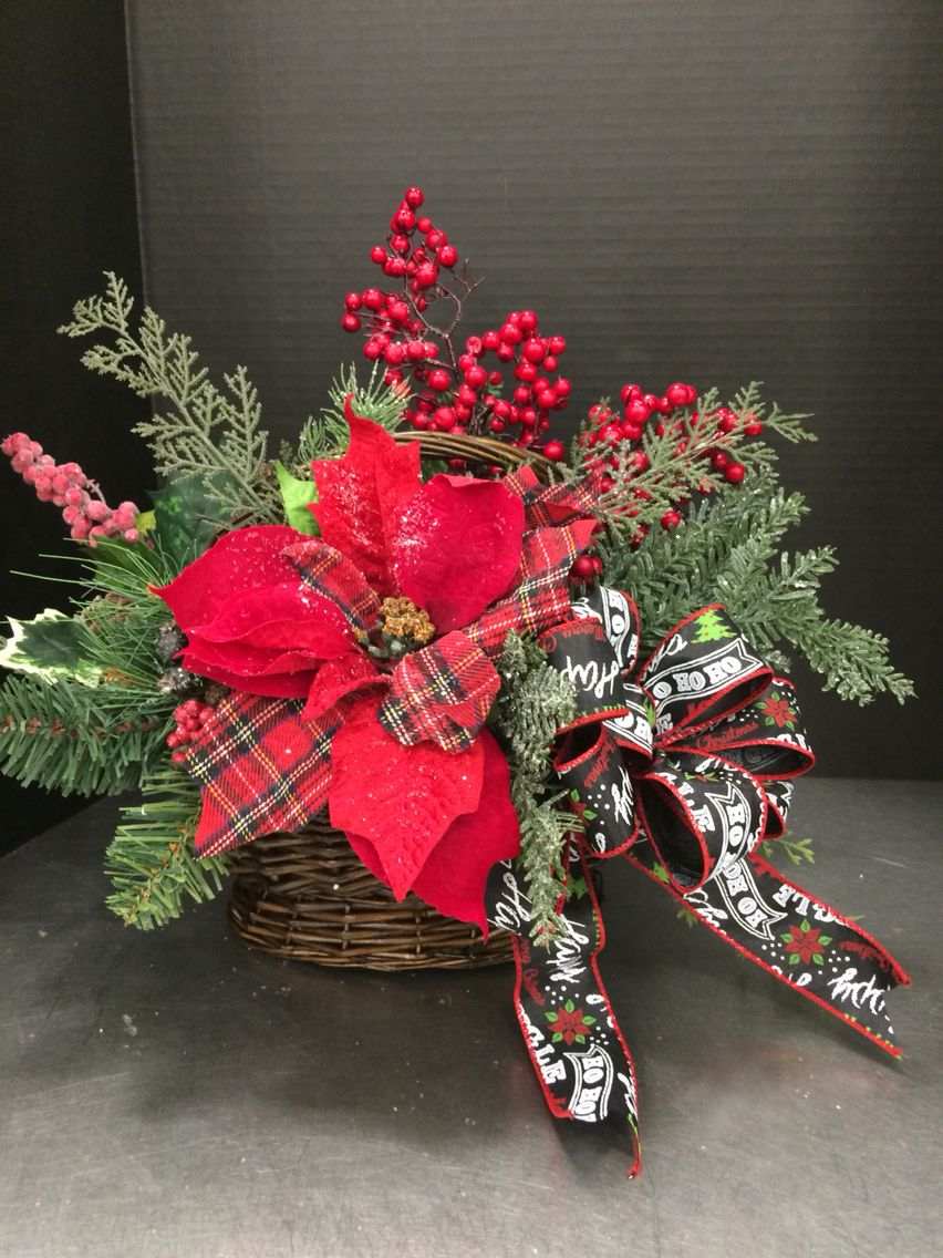 Christmas basket by andrea decorations