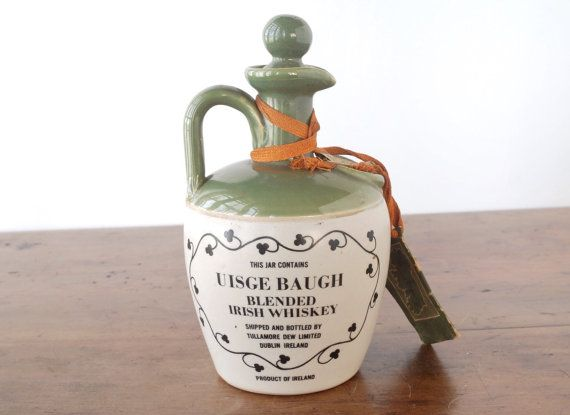 Vintage Whiskey Jug Tullamore Dew Uisge Baugh Irish